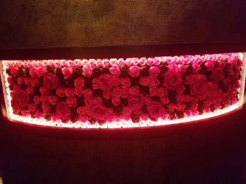 The PRIVATE LOUNGE 赤坂店の内装はバラがモチーフ