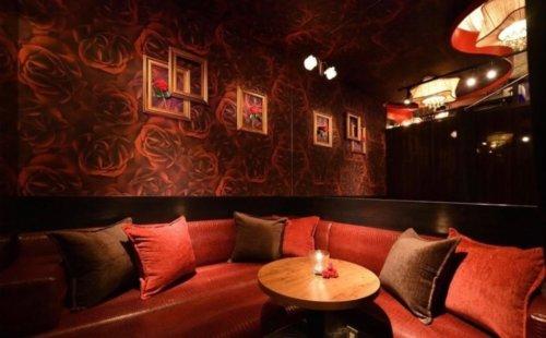 The PRIVATE LOUNGE 赤坂店の完全個室ベッド席の内観